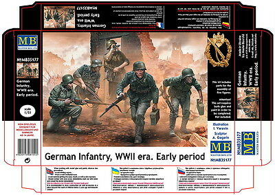 Master Box 1/35 WWII German Infantry in Early Period (5 Figures)