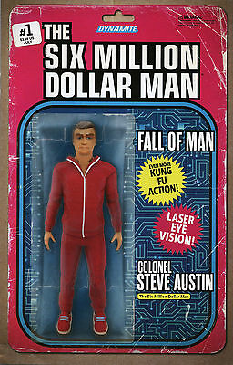 The Six Million Dollar Man #1 Figure Variant - Dynamite Comics - 2016 FREE P&P