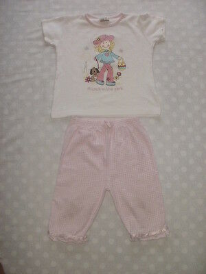 Girls Cherokee pretty trouser and top set age 3 - 4 years