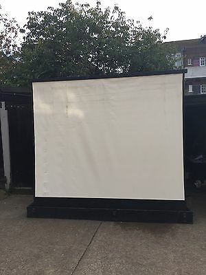 Projector Screen. Vintage. 1950s. 10ft X 10ft