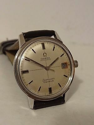 Omega Automatic Seamaster Geneve Stainless Steel Date 565 Wristwatch Working