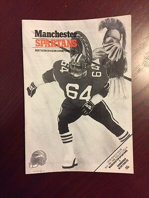 Manchester Spartans v Edinburgh Blue Eagles 1986 American Football Programmes