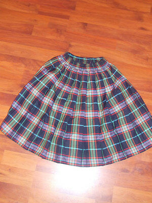 Girls Navy Tartan Skirt Age 11-12 years From M&S
