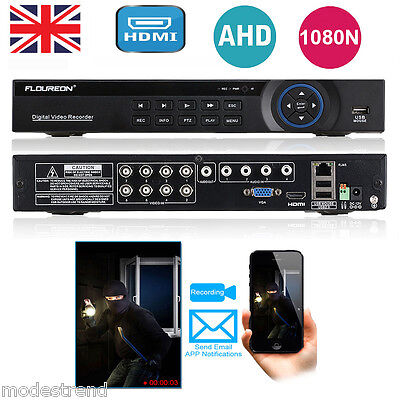 8CH 1080N AHD HDMI H.264 CCTV Security Digital Video Recorder DVR IPhone Android