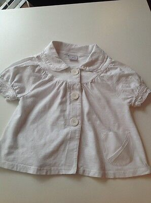 Girl's NEXT White Smock Style Lightweight Jacket Age 12 years