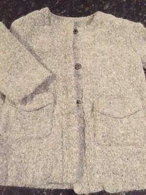 zara girls Grey Smart coat 2-3 Years