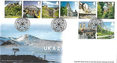 Gb 2012 A - Z Of Britain (Part Two) On Two Royal Mail Fdc As Issued