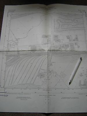 Liverpool Garstow: part railway system & factories OS 1:2500 scale map 1953.