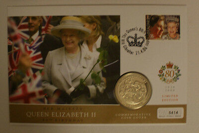 The Queen's 80th Birthday FirstdayCoin Cover-Ceremonial Duties