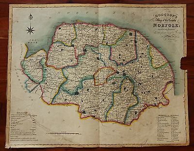Hodgson's new map of the County of Norfolk; divided into hundreds