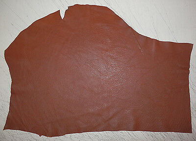"""Soft BROWN Deer Hide Leather Remnants Scraps 8""""x17"""" avg .6mm thick #394"""