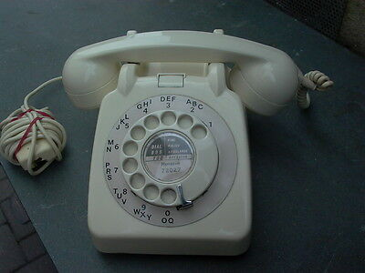 Vintage Rotary Dial Telephone Ivory