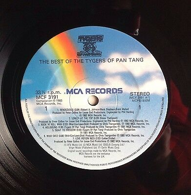 """The Best Of The Tygers Of Pan Tang Stereo MCF 3191 1983 12"""" Vinyl Excellent"""