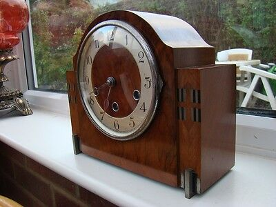 deco westminster chime mantel clock for restore, great looking case 8 day