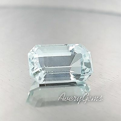 Aquamarine Loose Gemstone Natural 3,6 Ct Precious Gem Precision Cut By AverGems