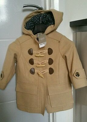 NEXT Girls Beige Duffle Coat 3 years BNWT