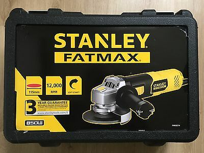 Stanley FatMax FME821K 850W 115mm Angle Grinder & Carry Case New,Sealed