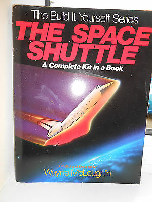 Space shuttle complete model kit in a book