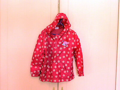 Girls 3-4 yrs PEPPA PIG Pink Rain Coat Jacket Hooded Folds into bag Exc Cond