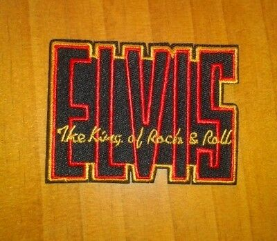 parche motero biker patch elvis presley king of rock and roll