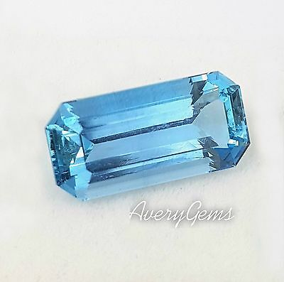 Aquamarine Loose Gemstone Natural 7.9 Ct Precious Gem Precision Cut By AveryGems