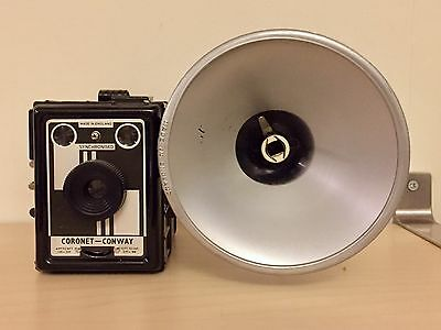 Coronet Conway Synchronised Model 120 Film Box Camera with Coro Flash
