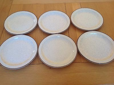 Six Poole Parkstone Design Side/Tea Plates VGC