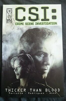 csi crime scene investigation thicker than blood graphic novel idw