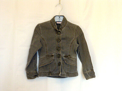 Next Khaki 3-4 Girls Fitted Smart Cotton Jacket Immaculate condition