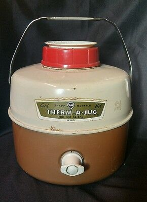 Vintage Knapp Monarch THERM A JUG Hot Cold One Gallon Dispenser With Lid Cup