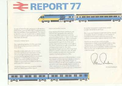 Philip Parker Report 77 High Speed Train HST Class 253 313 EMU Red Star Deltic