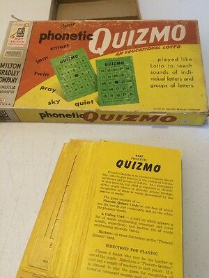 Vintage 1957 Milton Bradley Quizmo Educational Lotto Multiplication & Division