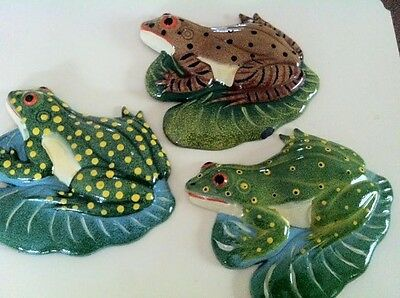 3 Frog Magnets (Beautiful!) (Lot of 3)!  New!
