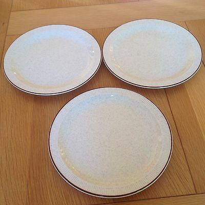 Three Poole Parkstone Design Salad /Dessert/ Large Side Plates VGC