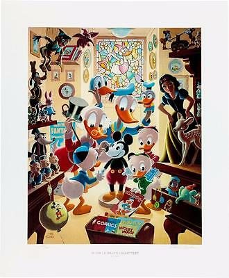Disney Carl Barks Litho IN UNCLE WALTS COLLECTERY #228 Donald Duck Scrooge Art