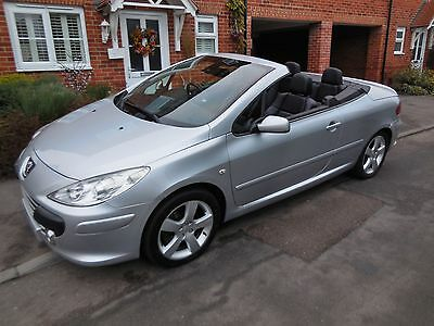2007 Peugeot 307 Cc Sport Convertible 2.0 Hdi  Silver Full Leather Interior