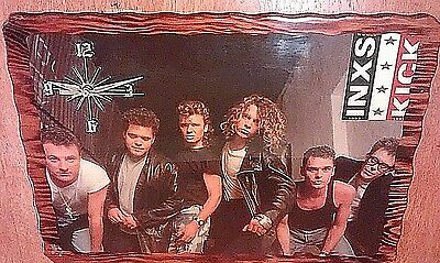 INXS photo wall clock vintage 1987 wood lacquered wall hanging KICK album works