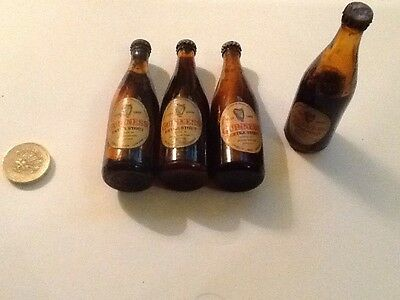 Vintage Miniature Collectable Guinness Bottles X4