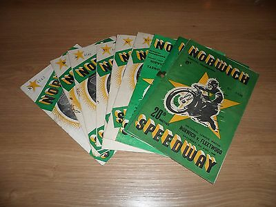 Norwich Speedway Programmes 1940's and 1950's (9)