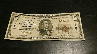 the first national bank of new bloomfield pennsylvania perry county $5