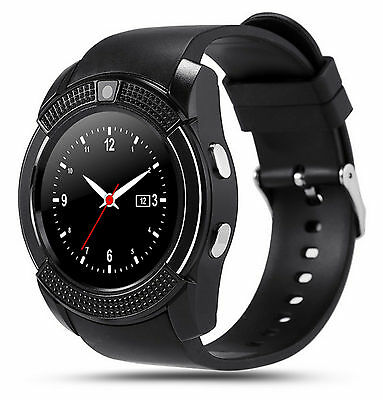 Black V8 Smartwatch Bluetooth Uhr kein Samsung,  Android, iOS Smart Watch Kamera