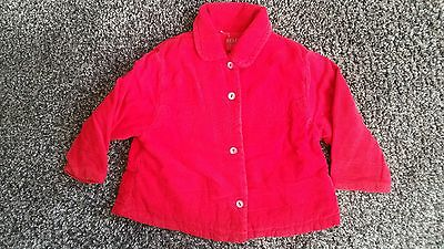 Kenzo Jungle girls red cord jacket size 18 - 24 months