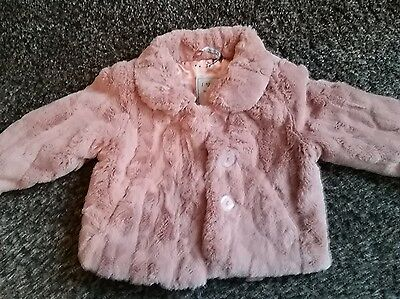Next girls pink dress coat size 18 - 24 months