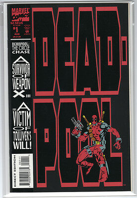 Deadpool: The Circle Chase 1 ~ 9.4 NM ~ 1st Solo Deadpool Marvel
