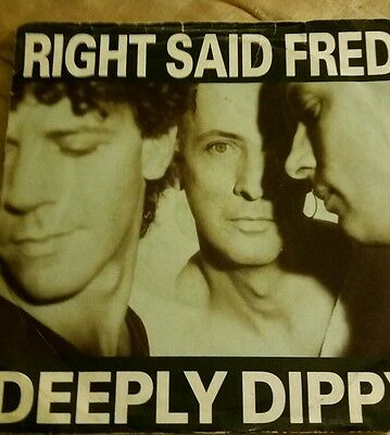 """Right Said Fred Deeply Dippy 1992 7"""" single"""