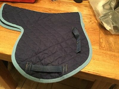 Cob Sized Quilted Blue Numnah