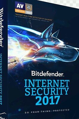 Bitdefender Internet Security 2017 3pcs| 2 1/2yr | Download Key|GET WITHIN MINS