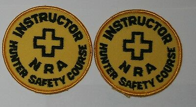 2 NRA Hunter Safety Instructor National Rifle Assn  Game Warden Police Patch