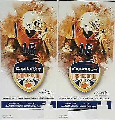 CAPITAL ONE ORANGE BOWL TICKETS LOWER LEVEL 10 YARD LINE ROW 8 - Awesome View