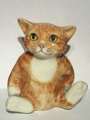 Charming Winstanley Ginger/Marmalade Tabby Cat - Sitting Back/Tail Out - No.3